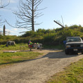 """Campsite in the """"A"""" loop.- Cape Lookout State Park Campground"""