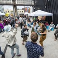 Party goers dancing to World's Finest at the 2018 Outdoor Project Seattle Block Party.- 2018 Outdoor Project Seattle Block Party Recap