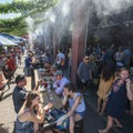 Denver Beer Co.'s patio at the 2018 Outdoor Project Denver Block Party.- 2018 Outdoor Project Denver Block Party Recap