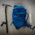 The Alpina next to my day pack.- Gear Review: C.A.M.P. Alpina Ice Axe