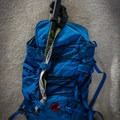 The Alpina attached to my day pack.- Gear Review: C.A.M.P. Alpina Ice Axe