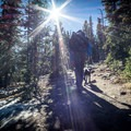 Ascending up Chief Mountain here in Colorado. Despite the sun, the shade had lots of ice to navigate. Thankfully the pack rides, comfortably with thick shoulder straps and a minimal but comfortable waist band (that can be removed).- Gear Review: Mountainsmith Tanuck 40L Backpack