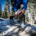 I had removed them since I was walking on rock but quickly had to put them back on for the shaded spots.- Gear Review: Kahtoola MICROspikes