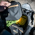Despite the outer fabric being an understated black color, the inside is a bright yellow, which is a nice touch.- Gear Review: Mountainsmith Tanuck 40L Backpack