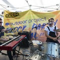 Strange Hotels on stage opening the 2018 Outdoor Project Minneapolis Block Party.- 2018 Outdoor Project Minneapolis Block Party Recap