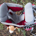 Kid Comfort 2: View of kid shoulder straps, seat, and head rest.- Gear Review: Deuter Kid Comfort 2