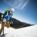 Veering right to the steeper section.- Gear Review: C.A.M.P. Alpina Ice Axe
