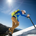 Working up the steep section.- Gear Review: C.A.M.P. Alpina Ice Axe
