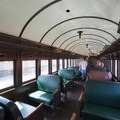 Passenger car at Oregon Coast Scenic Railroad in Garibaldi.- The Tillamook Bay Heritage Route