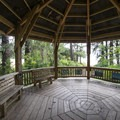 Wildlife viewing pavilion at Kilchis Point Reserve.- The Tillamook Bay Heritage Route