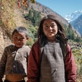Local children passing by on the trail to Chumling.- Nepal Undiscovered, Part 1: Tsum Valley Trek