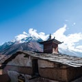 The monastery of Mu Gompa overlooking the mountains in the distance.- Nepal Undiscovered, Part 1: Tsum Valley Trek
