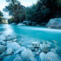 Crossing ice blue rivers on the way out to Chumling.- Nepal Undiscovered, Part 1: Tsum Valley Trek