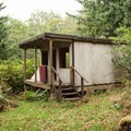 One of the retreat's dilapidated structures.- Expanding the Nestucca Bay National Wildlife Refuge