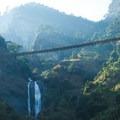 Suspension bridges crisscross over rivers and valleys below.- Nepal Undiscovered, Part 1: Tsum Valley Trek