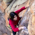 San Bernandino National Forest Holcomb Valley Pinnacles Claim Jumper Wall: Lady Luck 5.9. Photo by Antonio Ayala Photography.- Woman In The Wild: Marci Rosales