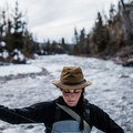 Lindsey fly fishing in the northern Uinta Mountains. Photo by Abbi Hearne (@abbihearne).- Woman In The Wild: Lindsey Elliott