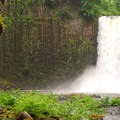 Abiqua Falls. On colder winter days, the falls and pool at its base may freeze over.- Oregon's Best Winter Waterfalls