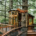 Eagle's Nest Treehouse. Photo by Julian Bialowas.- 8 Romantic Treehouses to Stay in this Valentine's Day