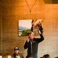 Tyson Gillard gets the crowd pumped up for winter adventures.- Embrace the Winter Party @ Base Camp Brewing Company