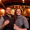 Shane Kucera shares a beer and talks outdoor adventures with Tracey Bascue.- Embrace the Winter Party @ Base Camp Brewing Company
