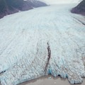 Aerial views of the glacier.- Learning to Fly in Moose Pass, Alaska