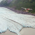 Flying over a river of ice.- Learning to Fly in Moose Pass, Alaska