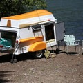Detachable row boat/camper trailer hybrid from American Dream Trailer Company. Photo courtesy of The American Dream Trailer Company.- The Best Camper Vans + Trailers