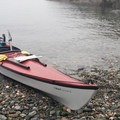 Taking a break on Lopez Island on the way to Cattle Pass.- 50 of Washington's Best Sea Kayaking Adventures