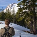 New day, new route. Heading to Lassen's southeast aspect.- In Search of Winter: 3 Days in Lassen Volcanic National Park