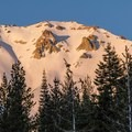 A waning moon sets over the north ridge.- In Search of Winter: 3 Days in Lassen Volcanic National Park