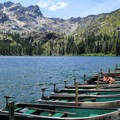 Sardine Lake is a nice stopover in Lakes Basin.- Exploring California's Gold Country
