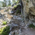 Stairs help with the climb toward Eagle Lake.- 5 Incredible Fall Hikes Near South Lake Tahoe