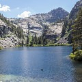 Eagle Lake makes a great swimming spot on a hot day.- 5 Incredible Fall Hikes Near South Lake Tahoe