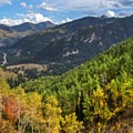 Big Cottonwood Canyon Road from above. Circle All Peak.- 5 Ways to Experience Autumn in Utah