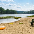 The beach at Bear Brook State Park Campground.- 10 Favorite State Parks in New Hampshire