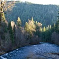 McKenzie River adjacent to Belknap Hot Springs Resort + Campground.- 30 Campgrounds Perfect for West Coast Winter Camping