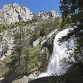 Bells Canyon, Lower Falls, at the mouth of Little Cottonwood Canyon.- Wasatch Waterfalls