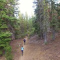 Riders race down trails off Cascade Lakes Highway near Bend.- Oregon Fall Adventures