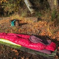 The Big Agnes Hazel 15 comes in a fun, girly fuschia with a deep purple interior.- Gear Review: Big Agnes Hazel SL 15 Women's Sleeping Bag
