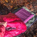 One of its most unique features is that the dust bag turns into a pad case so that you don't roll off your mattress in the night.- Gear Review: Big Agnes Hazel SL 15 Women's Sleeping Bag
