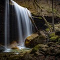 Big Laurel Falls is just one of the multiple waterfalls that you'll find along the trail to Virgin Falls. You'll also find a perfectly perfect campsite here as well. - 10 Must-Do Hikes Near Nashville, Tennessee