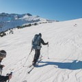 Aneroid Peak (left) overlooks McCully Basin.- Backcountry Skiing in Oregon's Wallowa Mountains