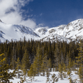 Crater Lakes basin.- Great Snowshoeing Near Denver