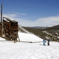 Cross-country skiing up to the Sallie Barber Mine.- Great Snowshoeing Near Denver