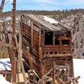 The Sallie Barber Mine.- Great Snowshoeing Near Denver