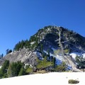 The base of the Union Peak summit trail.- Crater Lake National Park