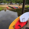 SUPs, canoes, and kayaks are all available for rent from the marina.- Loon Lake Lodge + RV Resort