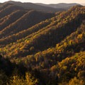 Viewpoint from Newfound Gap, Great Smoky Mountains National Park.- A Guide to Leaf-peeping Weekends in the Blue Ridge Mountains