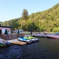 The marina at Loon Lake Lodge and RV Resort.- Loon Lake: The Oregon Coast's Hidden Summer Destination